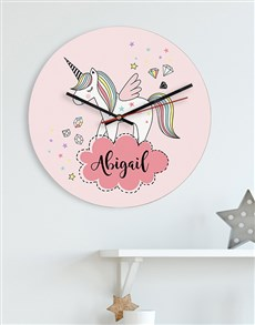 gifts: Personalised Unicorn MDF Clock!
