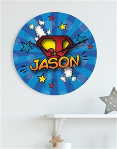 gifts: Personalised Superkid MDF Clock!