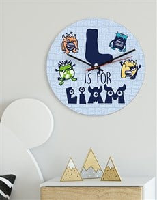 gifts: Personalised Monster MDF Clock!