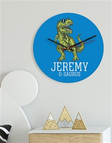 gifts: Personalised Trex MDF Clock!