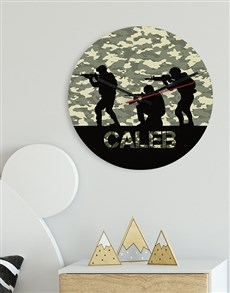 gifts: Personalised Army MDF Clock!