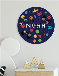 gifts: Personalised Games MDF Clock!