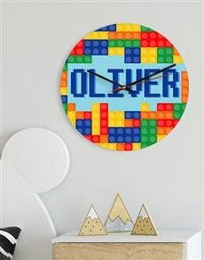 gifts: Personalised Bricks MDF Clock!