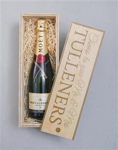 gifts: Personalised Moet Imperial Crate!
