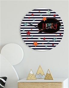 gifts: Personalised Stars MDF Clock!