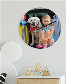 gifts: Personalised Photo MDF Clock!