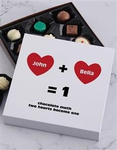 gifts: Personalised Chocolate Math Choc Tray!