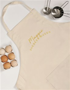 gifts: Personalised Shebeen Queen Apron!