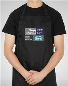 gifts: Personalised Love About Dad Apron!