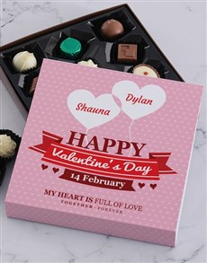gifts: Personalised Valentines Chocolate Tray!