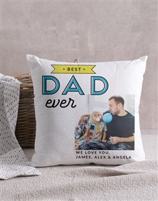 gifts: Personalised Best Dad Photo Scatter Cushion!