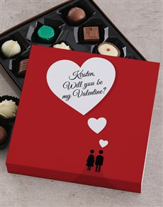 gifts: Personalised Be Mine Chocolate Tray!