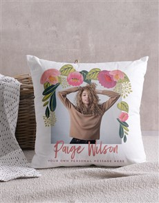 gifts: Personalised Floral Photo Scatter Cushion!