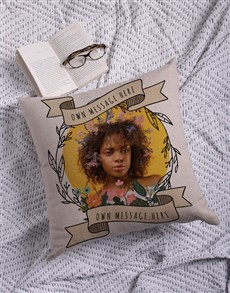 gifts: Personalised Photo Wreath Scatter Cushion!