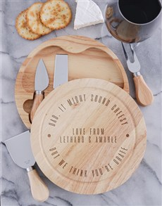 gifts: Personalised Grate Cheese Board Set!