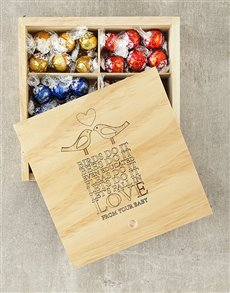 gifts: Personalised Lets Fall in Love Lindt Box!