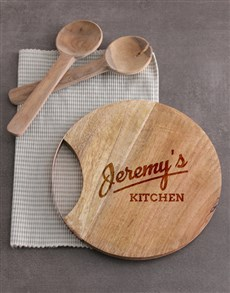 gifts: Personalised Kitchen Round Chopping Board!