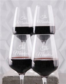 gifts: Personalised Family Wine Glass Set!