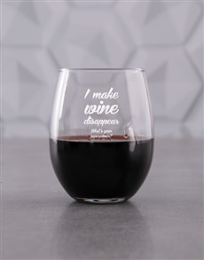 gifts: Personalised Superpower Stemless Wine Glass!