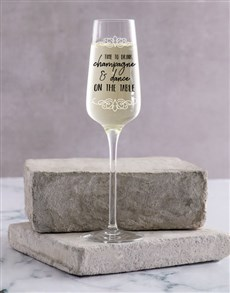 gifts: Personalised On The Table Single Champagne Glass !