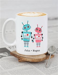 gifts: Personalised Robot Love Mug!