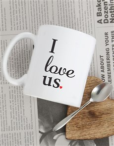gifts: Personalised I Love Us Mug!
