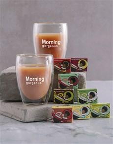 gifts: Personalised Morning Double Wall Mug Set!