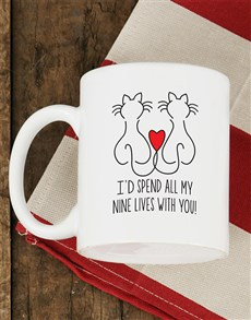 gifts: Personalised Nine Lives Mug!