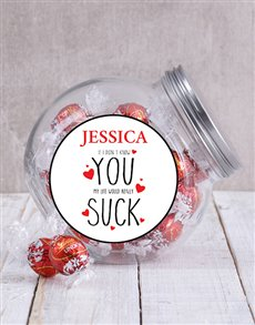 gifts: Personalised YOU SUCK Candy Jar!