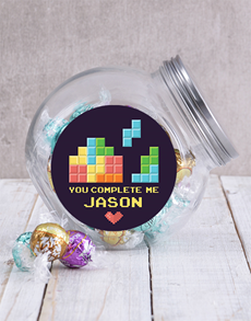 gifts: Personalised You Complete Me Candy Jar!