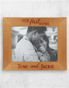 gifts: Personalised First Home Photo Frame!