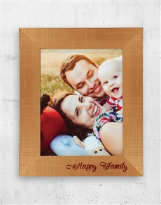 gifts: Personalised Happy Family A3 Photo Frame!