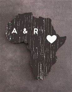 gifts: Personalised Heart Wooden Africa !