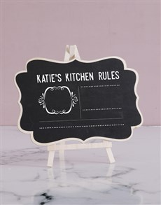 gifts: Personalised Kitchen Rules Chalk Board!