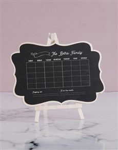 gifts: Personalised Family Chalk Board!