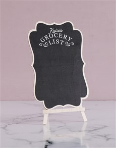 gifts: Personalised Grocery List Chalk Board!