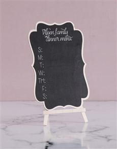 gifts: Personalised Dinner Menu Chalk Board!