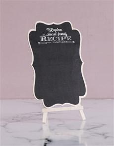 gifts: Personalised Secret Recipe Chalk Board!