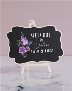 gifts: Personalised Welcome Chalk Board!