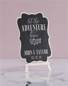 gifts: Personalised Adventure Chalk Board!
