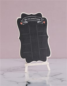 gifts: Personalised Own Message Chalk Board!