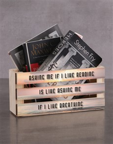 gifts: Personalised I like Reading Magazine Rack!