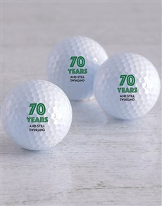 gifts: Personalised Still Swinging Golf Balls!