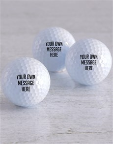 gifts: Personalised Message Golf Balls!