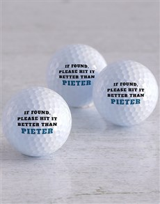 gifts: Personalised Better Golfer Golf Balls!