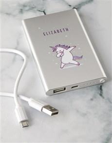 gifts: Personalised Unicorn Power Bank!