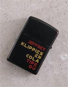 gifts: Personalised Klippies en Kola Lighter!