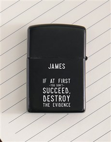 gifts: Personalised Evidence Lighter!