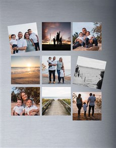 gifts: Personalised Photo Magnets Set Of Nine!