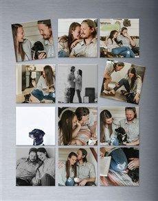 gifts: Personalised Photo Magnets Set Of Twelve!
